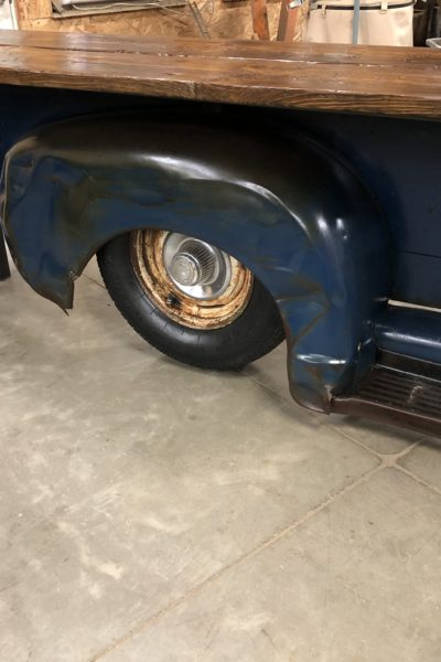 Blue Chevy Boxside Table