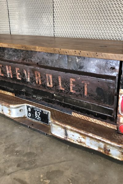 Black 1962 Chevy Tailgate Storage Table