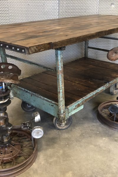 Green Nutting Truck Tall Top Table